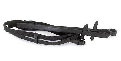 Windsor Equestrian Leather Continental Reins - Brown Or Black, Full Size 54""