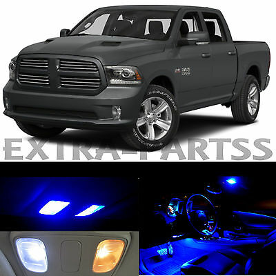 17x Blue Interior LED Lights Package Kit Dome Map US for 2015 + Dodge RAM 1500