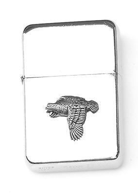Quail  Emblem Windproof Petrol Lighter FREE ENGRAVING Personalised Gift 290