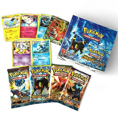 New Pokemon TCG Break Point Booster Box English Edition 36 Packs 324pcs Cards