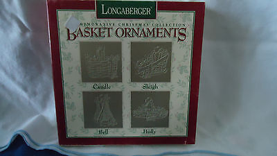 Longaberger Commemorative Christmas Basket Ornament Collection