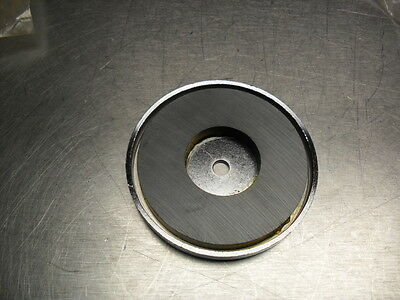 """Strong 3"""" dia. magnet round base 3/8"""" thick"""