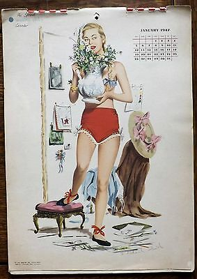 1947 Esquire Pin Up  12 Month Calendar J. Frederick Smith