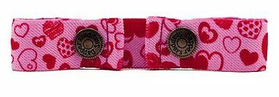 Dapper Snappers Original Toddler Pattern Belts - Pink Hearts