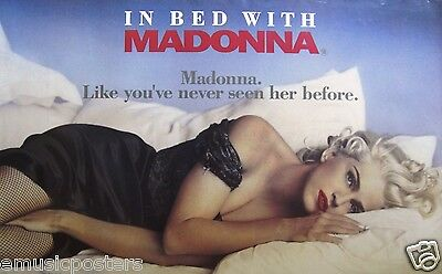 """MADONNA """"IN BED WITH"""" U.K. PROMO MOVIE POSTER -Like You've Never Seen Her Before"""