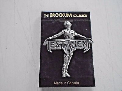 "Testament - Cool Jewelry, Pin-on / vintage 90's / New cond. / 2"" x 2 1/4"""