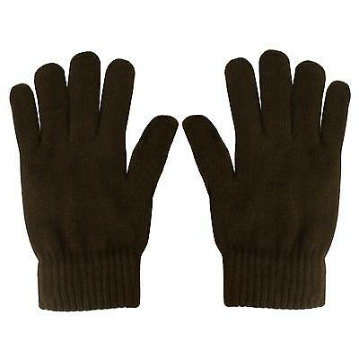 Men's Everyday Winter Thick Knit Thinsulate 3M Warm Snow Ski Gloves Brown M/L