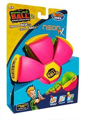 New Britz'n Pieces Phlat Ball Jr Neon Fx Green/pink Bma755 Outdoor Toys