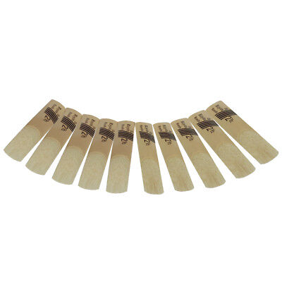 10pc bB Clarinet Reeds Reed Size 2.5 Strength 2 1/2 Professional Quality