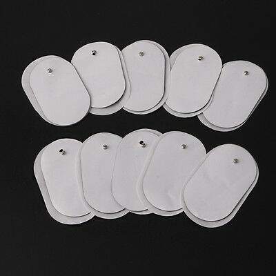 10Pcs Silicone Gel Tens Units Electrode Replacement Pads For Massagers Practical