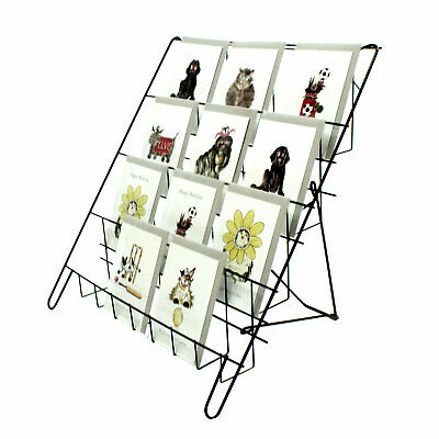 Counter Standing Collapsible Card Display in Black for Shops & Stalls (E8B)