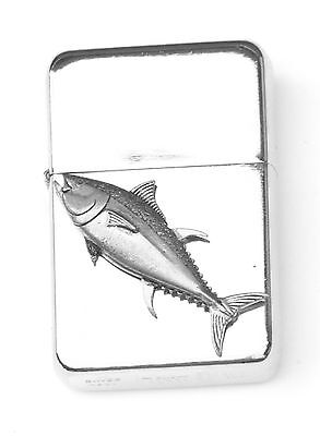 Tuna Fish Emblem Windproof Petrol Lighter FREE ENGRAVING Personalised Gift 379