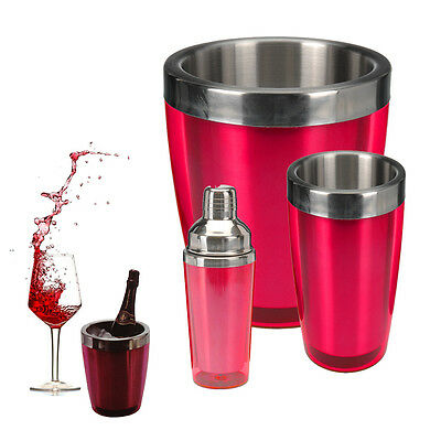 Ice Bucket Cooler Champagne Drinks Chiller Bottle Holder Wine Beer Party Table