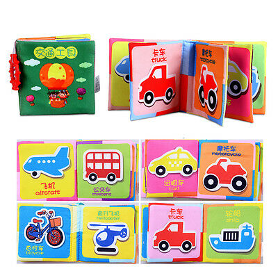 Hot Infant Baby Child Intelligence Development Cloth Book Cognize Book Toy AS