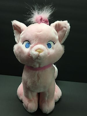 "Disney Store Plush Doll Think Pink Marie 12"" Aristocats Authentic Original"