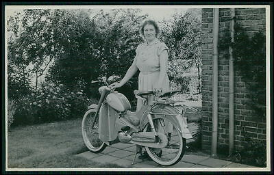 Motorcycle Italian ? Sparia ? original old c1940-1950s Real Photo postcard