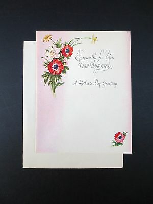 # J371- Vintage Unused Polly Nordell Mother's Day Greeting Card Wildflowers