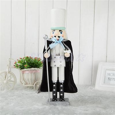 "15.74"" Wooden Nutcracker Soldier Statue Christmas Toy Gift Decor Collectible"