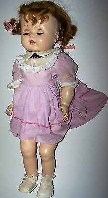 Vintage Hard Plastic Saucy Walker Mama Doll in Vintage Outfit (lowest I'm Going)