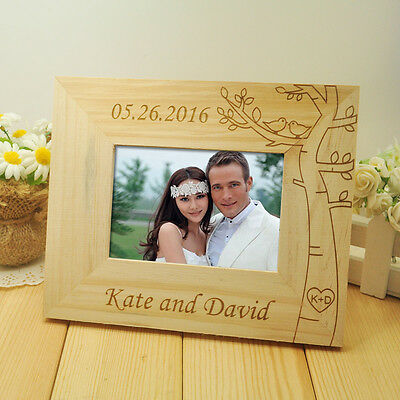 Personalized Wedding photo frame Wooden Wedding Couple Pictures Frames Home Deco