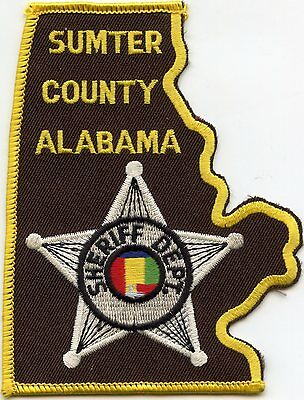 Sumter County Alabama Al Sheriff Police Patch