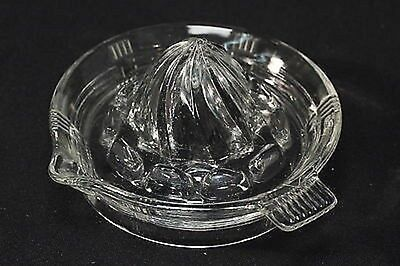 Hazel Atlas Criss Cross Crisscross Clear Depression Glass Lemon Juicer/Reamer