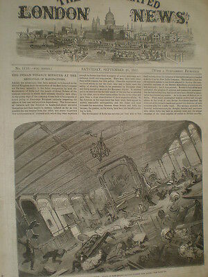 A Gale hits the SS Great Eastern 1861 old print
