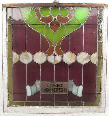 Antique Vintage Hanging Stained Glass Window (1323)NJ