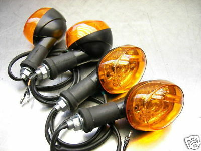 4x BRIGHTER+FLEXIBLE 12 + 6 VOLT INDICATOR FLASHER TURN SIGNAL SET DT 175 DT 250