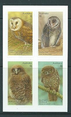 Australia 2016 Owls Set Of 4 Self Adhesive Unmounted Mint, Mnh
