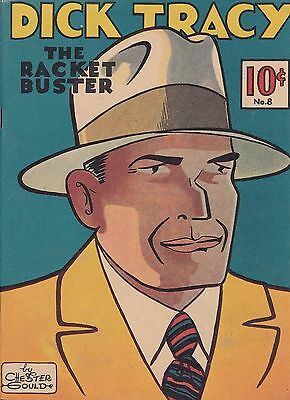 """Dick Tracy """"the Racket Buster"""" Number 8 (1937 ) 1982 Reprint Chester Gould"""
