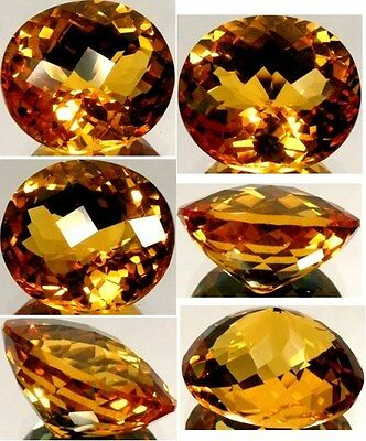 Handcut 26ct Scotland Citrine Ancient Arab Gold Recipe Medieval Viper Anti-Venom