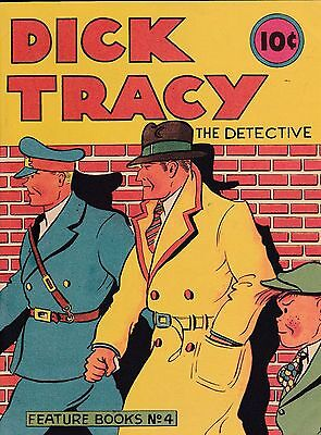 Dick Tracy The Detective Feature Books #4 (1937 ) 1982 Reprint Chester Gould