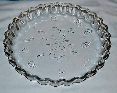 Anchor Hocking SAVANNAH Pattern Glass Quiche Dish, Pie Plate, Tart Pan