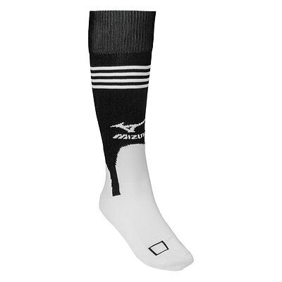 Mizuno Performance Baseball/Softball Stirrup Socks - White/Black - Large