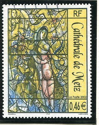 TIMBRE FRANCE OBLITERE N° 3498 TABLEAU MARC CHAGALL / Photo non contractuelle
