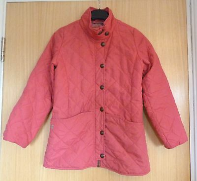 Joules Girls Jacket Coat Age 11 12 Pink Mabel Quilted School Casual