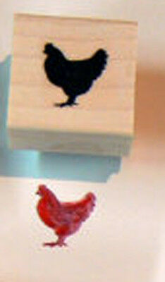 P75 Chicken food choice rubber stamp