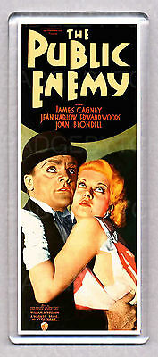 THE PUBLIC ENEMY movie poster LARGE 'WIDE' FRIDGE MAGNET- JAMES CAGNEY CLASSIC