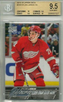 2015-16 Upper Deck Dylan Larkin #228 Young Guns Rookie Card RC YG 15-16 BGS 9.5