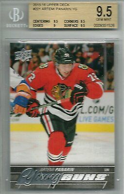 2015-16 Upper Deck Artemi Panarin #221 Young Guns Rookie Card YG 15-16 BGS 9.5