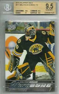 2015-16 Upper Deck Malcolm Subban #211 Young Guns Rookie Card YG 15-16 BGS 9.5