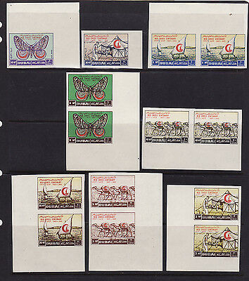 Dubai mnh stamps mi#26-33 red cross 1963 pairs and large margins