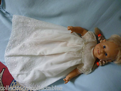 Vintage Childs Or  Dolls  Christening Gown  By Tot Net