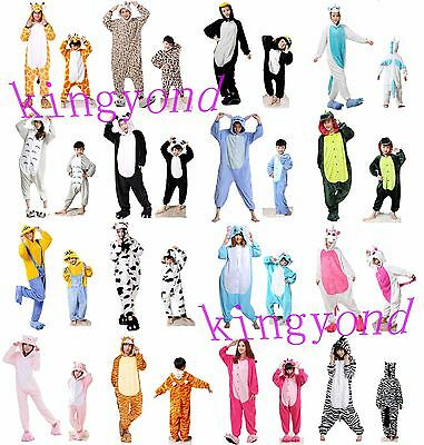 Onesie Adult Unisex Kigurumi Pajamas Animal Cosplay Costume  Kids Sleepwear Warm
