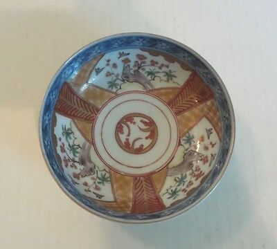 "19th C. ANTIQUE JAPANESE IMARI SMALL 5 1/8""  BOWL, MEIJI PERIOD,  c. 1868-1913"