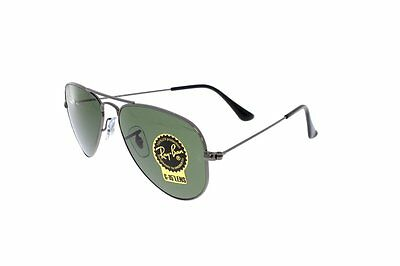 RAY-BAN Aviator Small Metal Gunmetal/Green RB3044 W3100 52