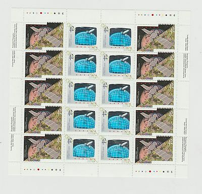 Canada 1992  Space Pane of 20 MNH #1441-1442