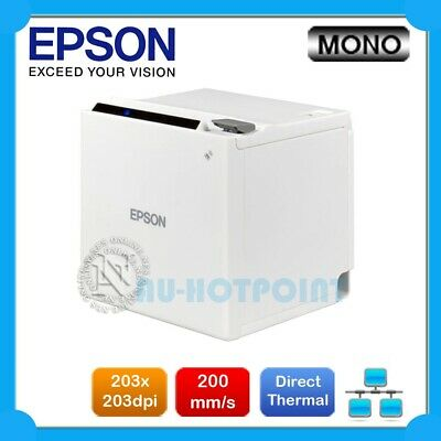 Epson TM-M30 Direct Thermal Ethernet POS Receipt Printer (WHITE) P/N:C31CE95221