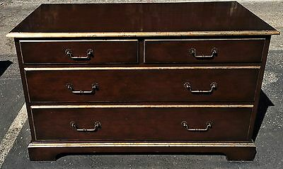 Superb John Hall Designs Walnut & Gold Commode Chest of Drawers